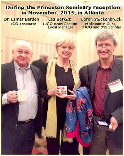 Dr . Barden, Ms. Berkuz, Professor Stuckenbruck at PTSEM Reception