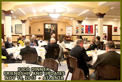 FJCO Foundation dinner annual member meeting, November 19, 2015, at the Central Presbyterian Church, Atlanta, Georgia
