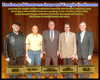 Speakers at the 2015 Passion and Passover conference
