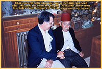 Charlesworth with Iskando Kando, the Christian Arab who  delivered the Dead Sea Scrolls from their discoverers to scholars and the modern world. (photo 1990s in Jerusalem)
